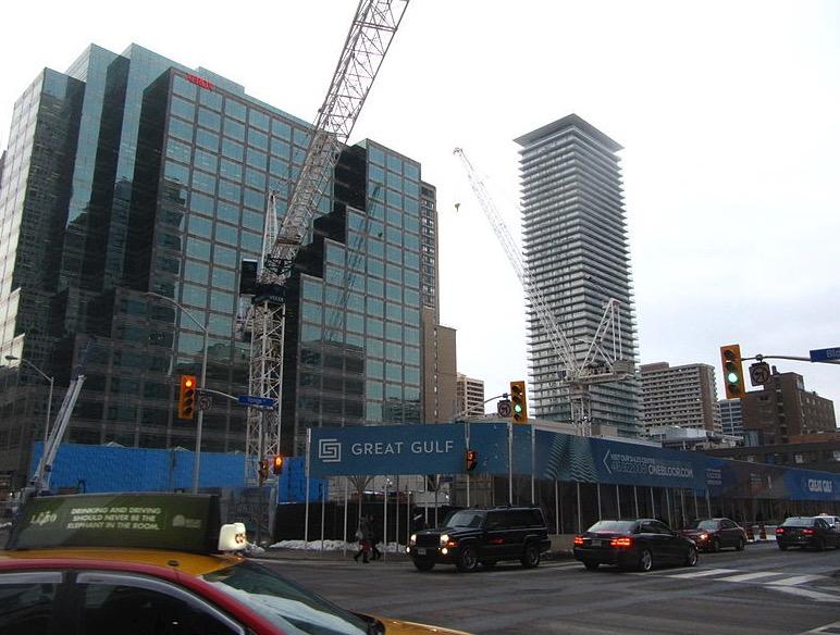Construction of 1 Bloor East condo in Toronto